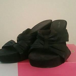 Nine West Black wedge Sandals